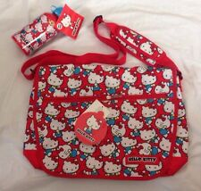 Hello Kitty Sanrio Messenger Bag and Aluminium Bottle Allover Pattern NWT