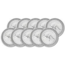 2020 P Australia Silver Kangaroo 1 oz $1 BU - Ten 10 Coins