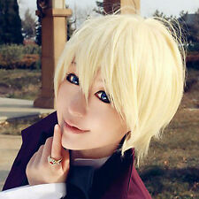 Black Butler Alois Trancy Short Blonde Straight Full Hair Anime Cosplay Wigs