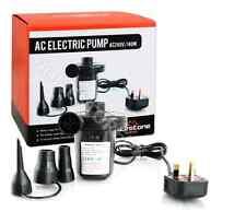 ELECTRIC 3 VALVE ADAPTOR AIR PUMP INFLATING BOAT BED PADDLING POOL CAMPING 83150