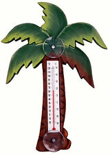 THERMOMETERS - ISLAND PALM TREE LARGE WINDOW THERMOMETER - TROPICAL DECOR