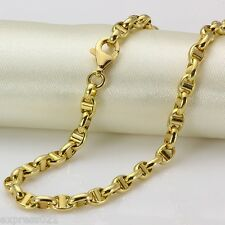 "23.6"" L Solid 18K Yellow Gold Necklace/ Heavy Wider Chain Necklace/ 9.2-9.5g"