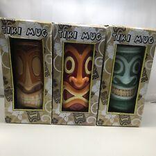 Set of 3 hawaiian tiki mugs