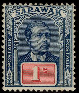 SARAWAK GV SG76, 1c slate-blue & carmine, LH MINT.