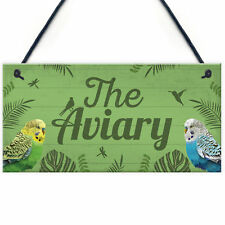 The Aviary Bird Aviary Sign Bird Accessories For Cage Garden Plaque Gift For Nan