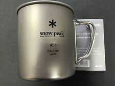 Snow Peak Titanium Single Wall Mug 450 Camping MG-143 MADE IN JAPAN