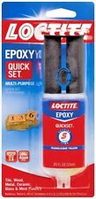 **.85 oz LOCTITE Epoxy QUICK SET 2-Part Multi Adhesive Glue Dual Syringe 1395391