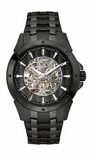 Bulova Men's Automatic Skeleton Dial Black Bracelet 43mm Watch 98A147