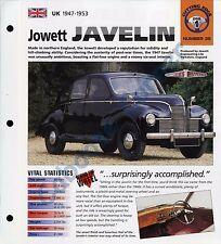 Jowett Javelin IMP Brochure Specs 1947-1953 Group 1, No 39