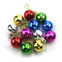 12x Christmas Tree Ball Baubles Hanging Ornament Decoration Multicolour