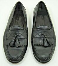 Johnston & Murphy Black Leather Kiltie Tassel Loafers shoes Mens sz 8 1/2 M  VGC
