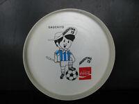"1978 GAUCHITO COCA COLA TRAY 11"" vintage FIFA SOCCER WORLD CUP ARGENTINA"