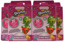 4 Packs Kids Smart Care Shopkins Bandages 80 Total Latex Free 4 Designs 3 Inch