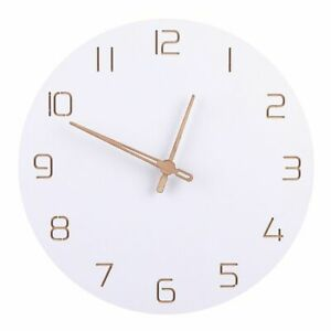 Nordic Style Silent Wall Clock White Simple Modern Design Living Room Home Decor
