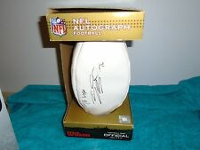 NFL autograph football signed