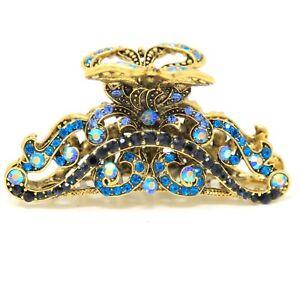 New vintage multi elegant bling rhinestone metal hair accessories hair claw pin