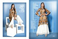 Indian Pakistani Top Bottom Bollywood Kurti With Plazo Dress Apparel Party Wear