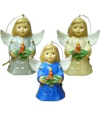 Goebel 2011 Angel Bell Set of 3 NIB Angels Holding Candle 106300 NEW BOX