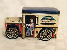Vintage Cherrydale Farms Tin Delivery Truck Coin Bank