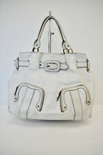 Cole Haan White Leather Tote/Shopper handbag Size XLarge On Sale rf