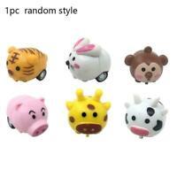 1Pcs Kids Cartoon Animal Pull-back Toy Car Plastic Toy Mini Durable V9Q4 Ca C8X6