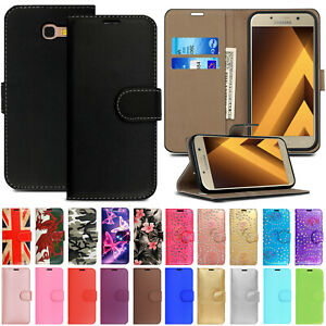 Case For Samsung Galaxy A9 A8 A7 A6 Plus A5 A3 2017 Leather Flip Wallet Cover
