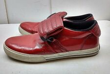 Supra Cuban NS Men Red Patent Leather Athletic Sneaker Performance Shoes 10 M 44