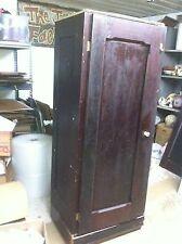 Vintage Wood Wooden Storage  Armoire Kitchen Broom Closet Wardrobe Cabinet Chest