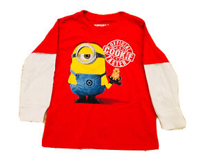 Despicable Me Minion Boy Top Shirt Size 2T Red Yellow Longsleeve
