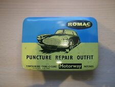 50/60er Reifen Flickzeug Puncture Repair Outfit - MOTOR CYCLE  U.K.- Picture Tin