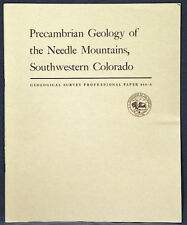 Usgs Colorado Geology Of The Needle Mountains Scarce 1969 Report, Pristine