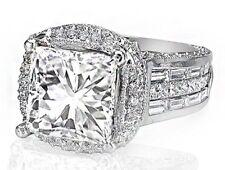 Art Déco Inspirado Anillo de Compromiso Diamante Certificado de GIA 7 Quilate