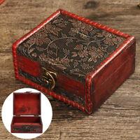 Vintage Boîte à Bijoux en Bois Coffret Ecrin Stockage Rangement