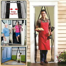 Magic Door Mesh Magnetic Curtain Fastening Hands Free Fly Bug Insect Screen