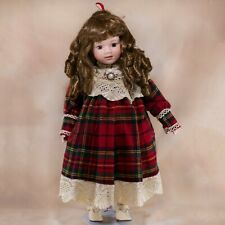 """Seymour Mann Collector's Porcelain Doll 17.5"""" Brown Eyes and Hair 1990"""