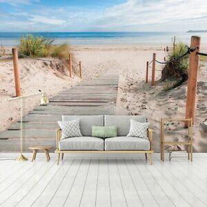Vlies Fototapete 3D Strand Dünen Meer Nordsee Wohnzimmer Tapete XXL Landschaft 3