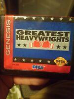 Greatest Heavyweights (Sega Genesis Game, 1993) (USED)