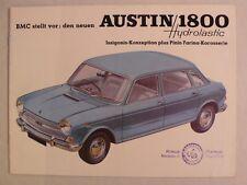Prospekt BMC Austin 1800 Hydrolastic, 8.1965, 12 Seiten für die Schweiz