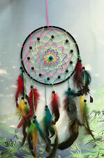 20cm black rainbow feathers dreamcatcher dream catcher