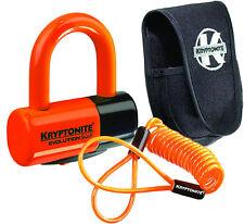 Kryptonite Moto Bicicleta de Bloqueo de Disco Premium Pack Con Bolsa & Cable de recordatorio