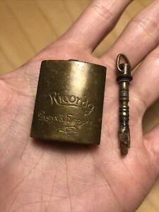 Antique Flint Tinder Box Striker Ricordo Guerra Europea