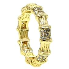 "DJADEE ""Naumi"" Ring 18K 750 Gold vergoldet Zirkonia gelbgold Damenring R5518DS"