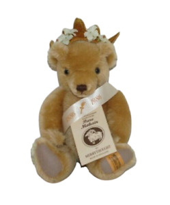 """Merrythought Mohair Bear With Flowered Crown 10"""" Limited Edition England"""