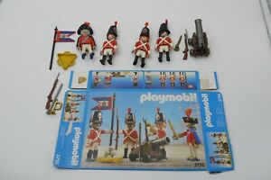 VINTAGE Playmobil 3795 VICTORIAN REDCOATS SOLDIERS SET 95% COMPLETE