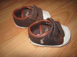Ralph Lauren Babyschuhe  (Gr 16) - dunkelbraun - Kinder / Baby - SCHUHE