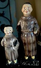 Vintage Enesco Priest Monk Religious Figurine Lot Friar Tuck Catholic Saint