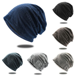NEW Womens Mens Beanie Caps Letter Printed Casual Baggy Cuff Slouch Skull Hats