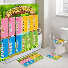 Mathematics for children Shower Curtain Toilet Cover Rug Bath Mat Contour Rug