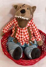 "Ikea Lufsig Big Bad Wolf Plush 19"" Incomplete Lumberjack"