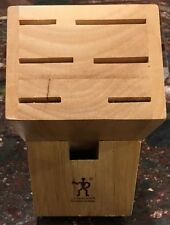 J.A. Henckels Wood Knife Block #934-F 6 Slot Holder Countertop Knives Storage
